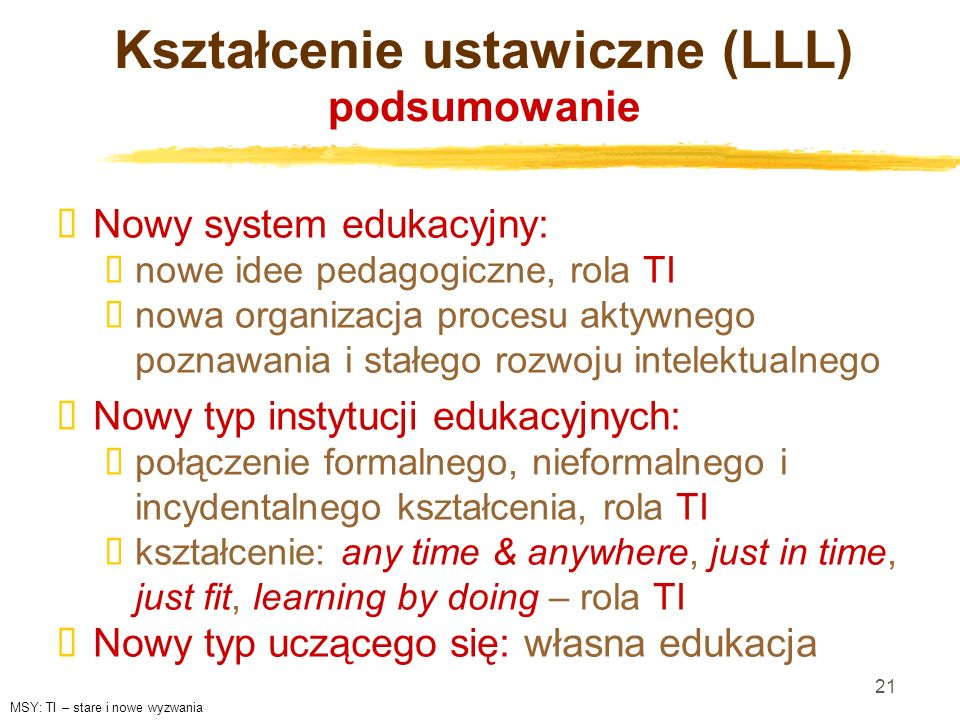 Kształcenie ustawiczne (LLL) podsumowanie