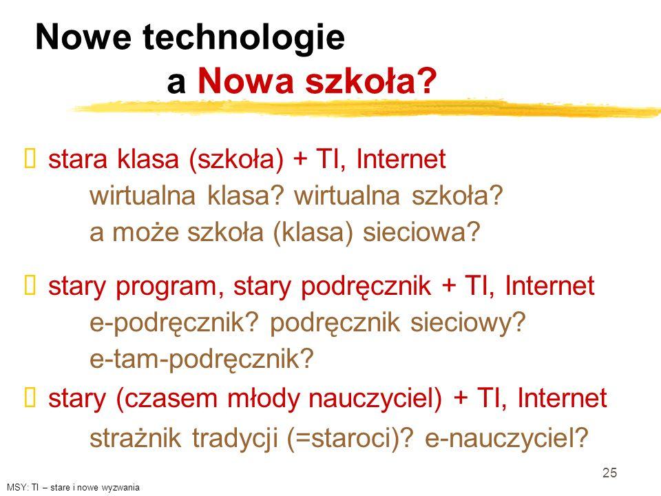 Nowe technologie a Nowa szkoła