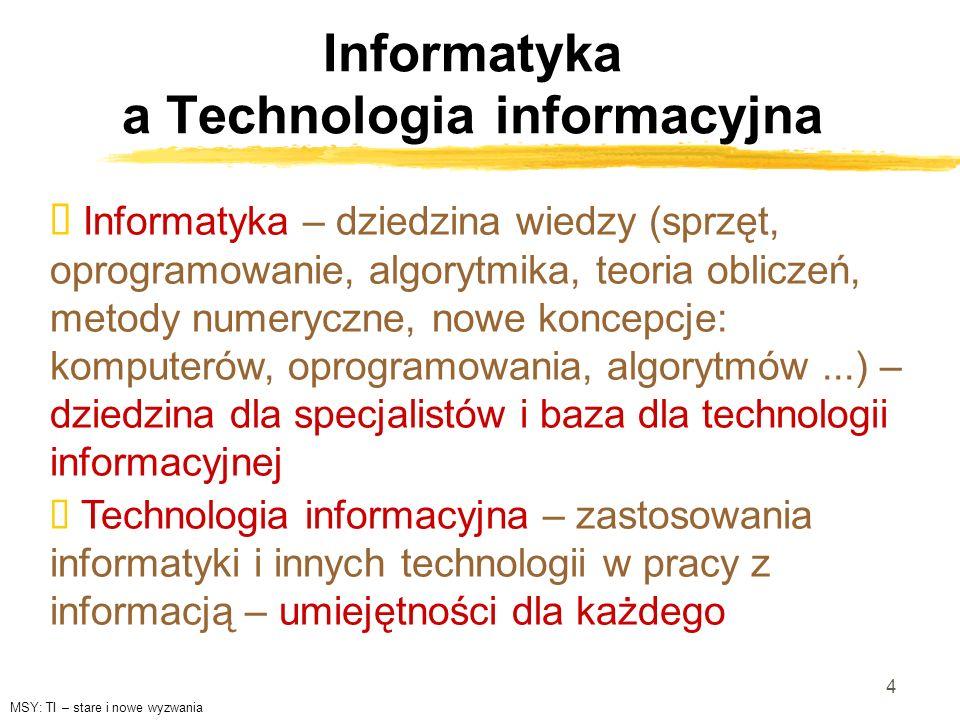 Informatyka a Technologia informacyjna