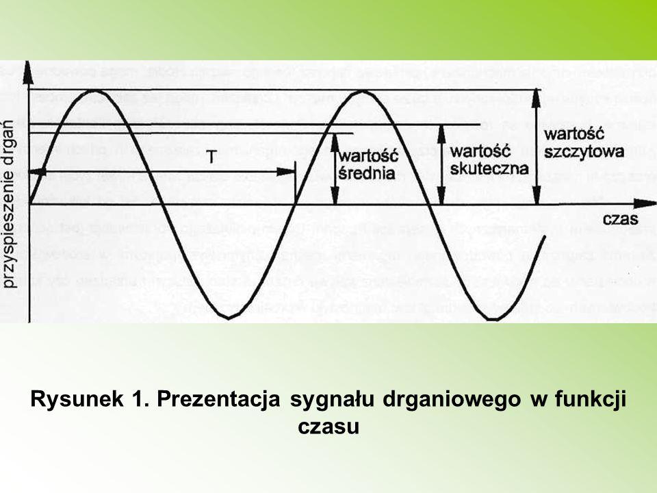 Rysunek 1. Prezentacja sygnału drganiowego w funkcji czasu