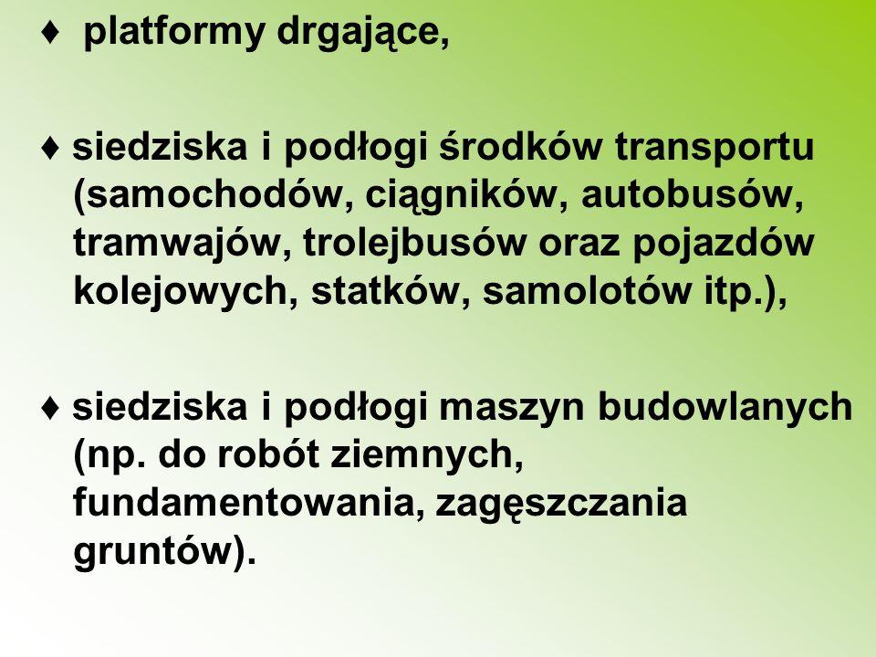 ♦ platformy drgające,