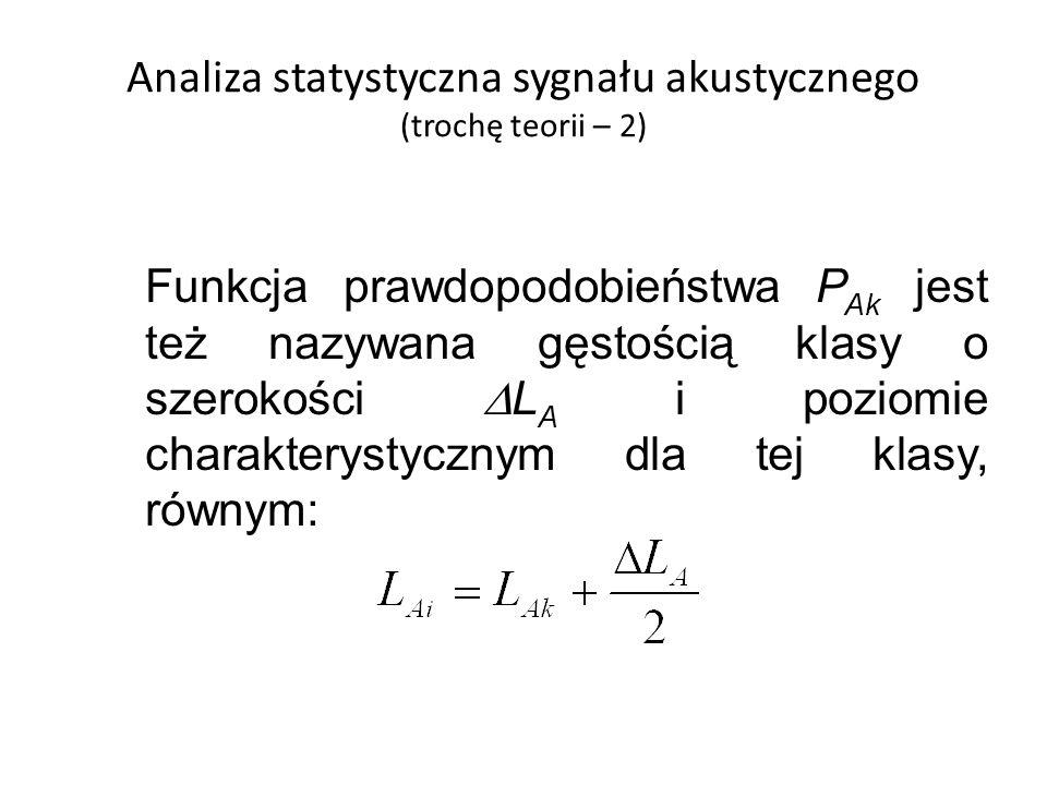 Analiza statystyczna sygnału akustycznego (trochę teorii – 2)