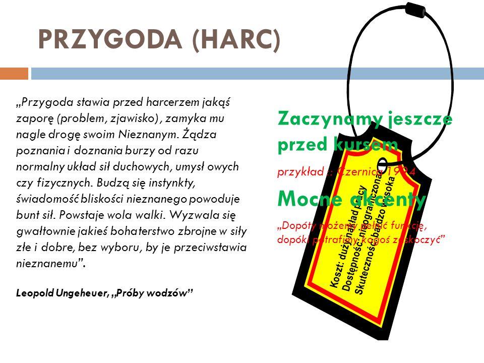 PRZYGODA (HARC) Mocne akcenty Zaczynamy jeszcze przed kursem