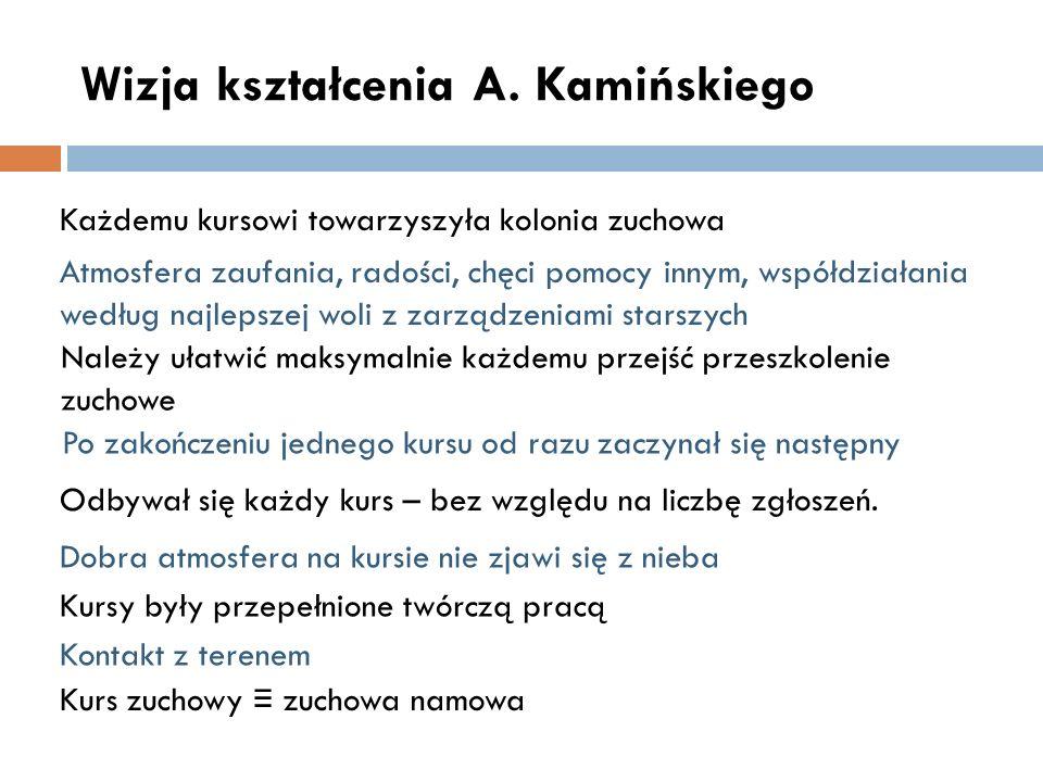 Wizja kształcenia A. Kamińskiego