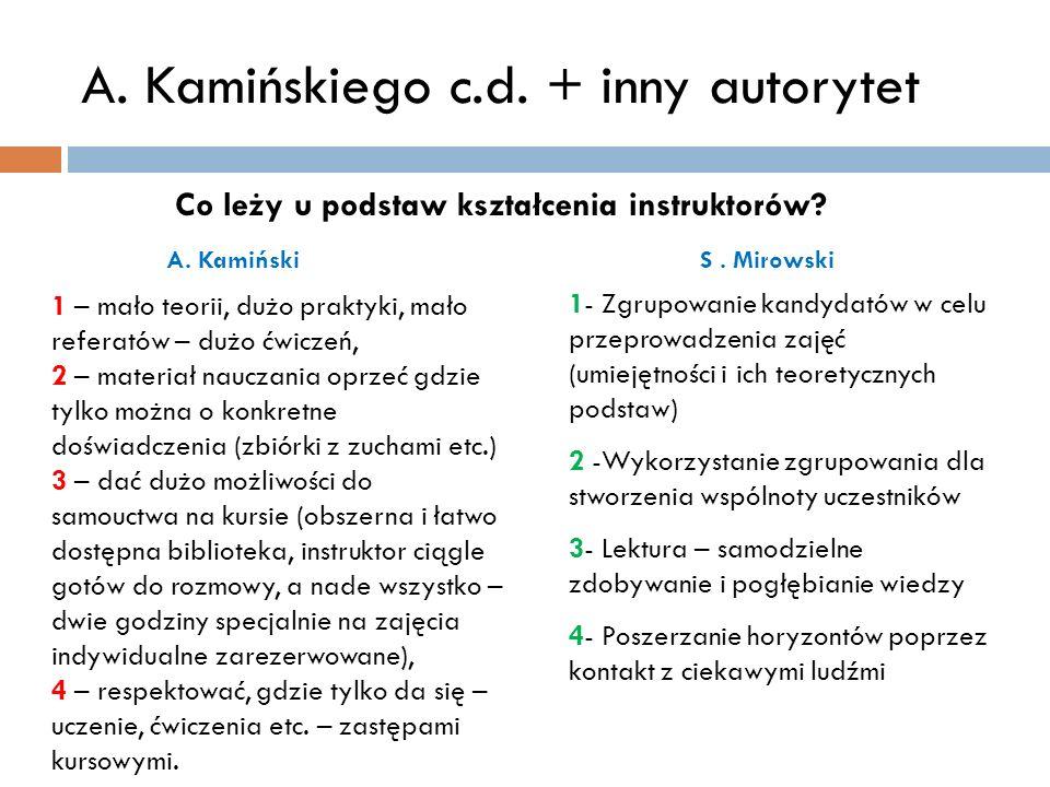 A. Kamińskiego c.d. + inny autorytet