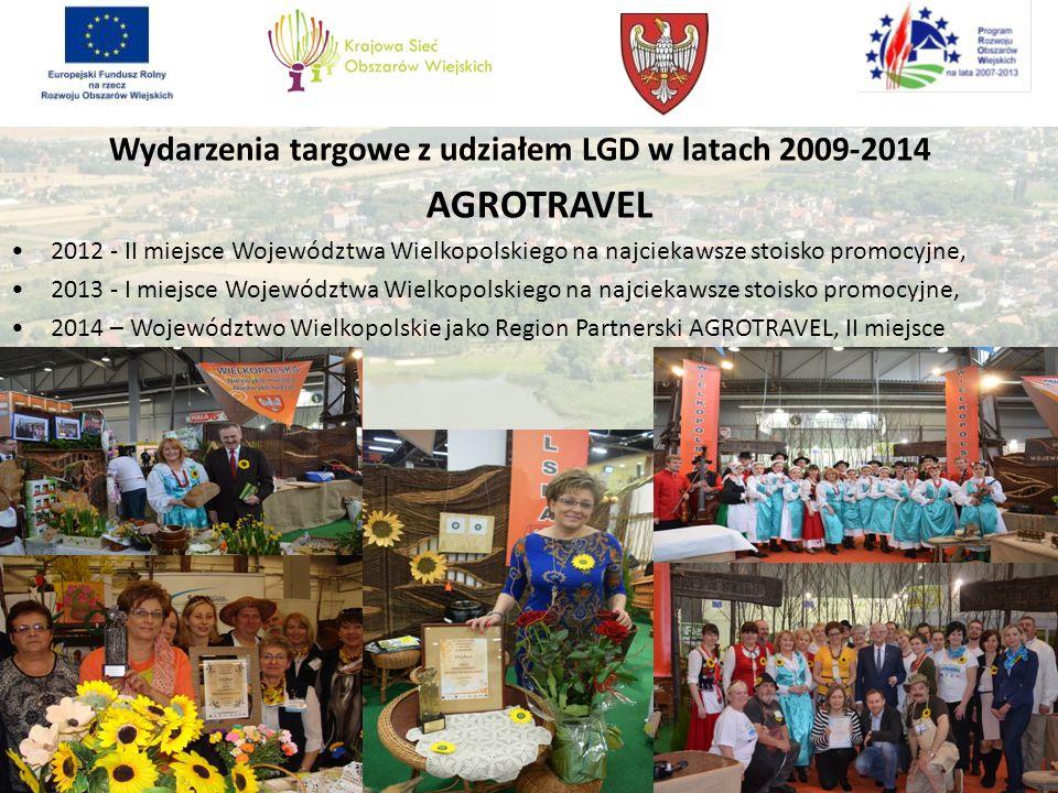 Wydarzenia targowe z udziałem LGD w latach 2009-2014