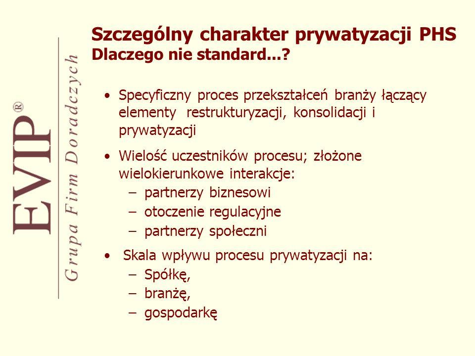 Szczególny charakter prywatyzacji PHS Dlaczego nie standard...