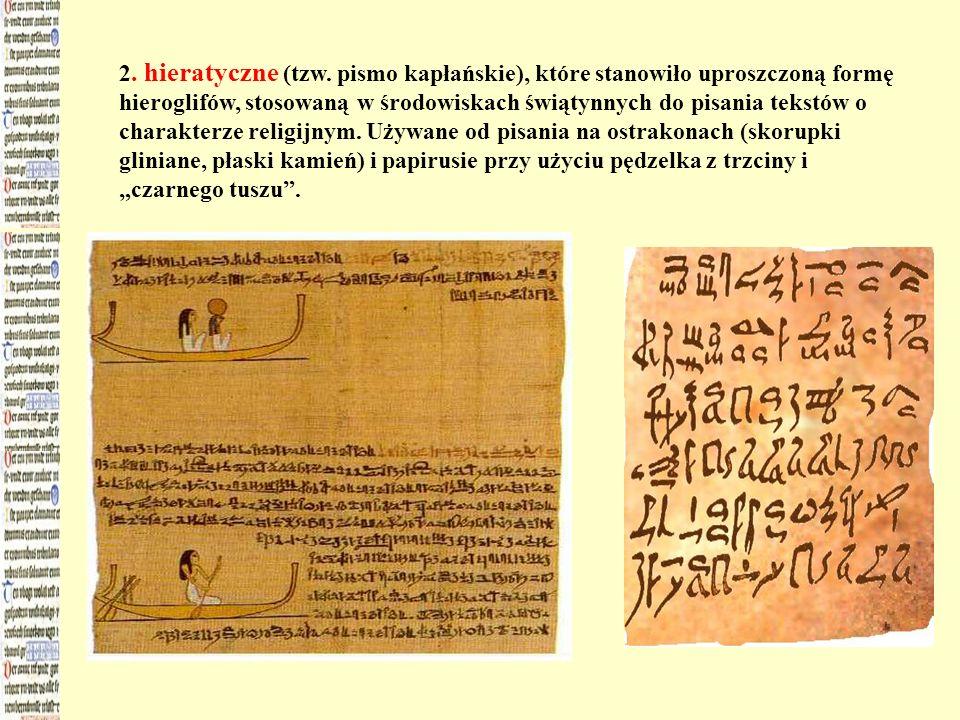 2. hieratyczne (tzw.