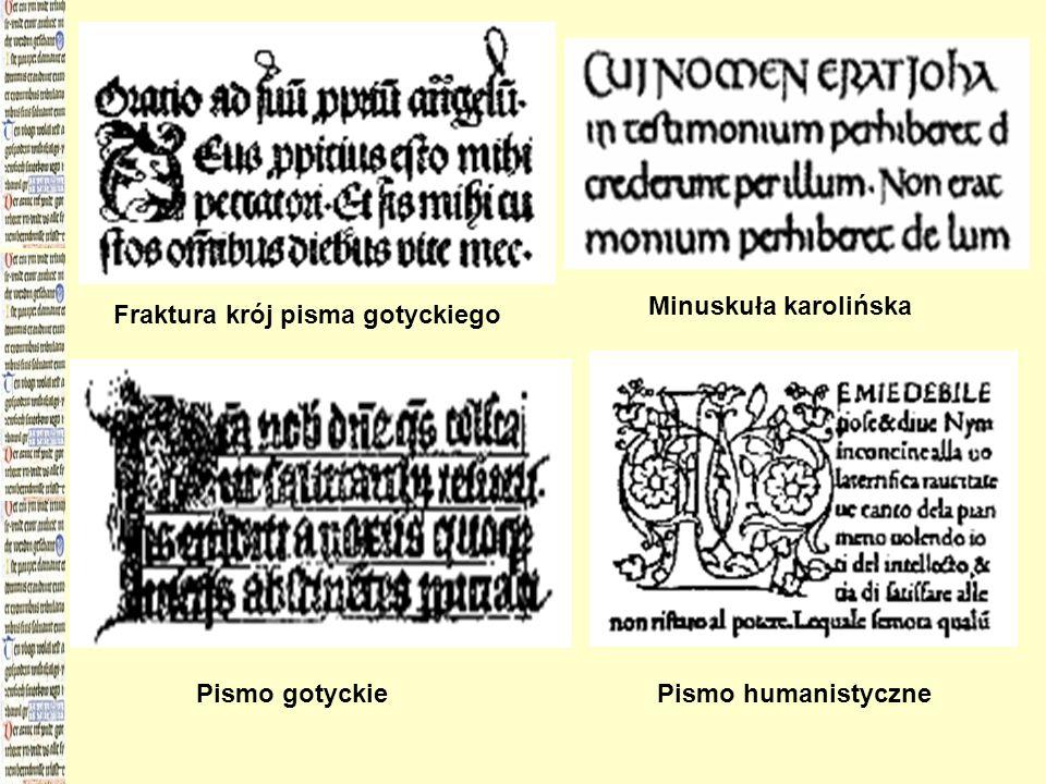 Minuskuła karolińska Fraktura krój pisma gotyckiego Pismo gotyckie Pismo humanistyczne