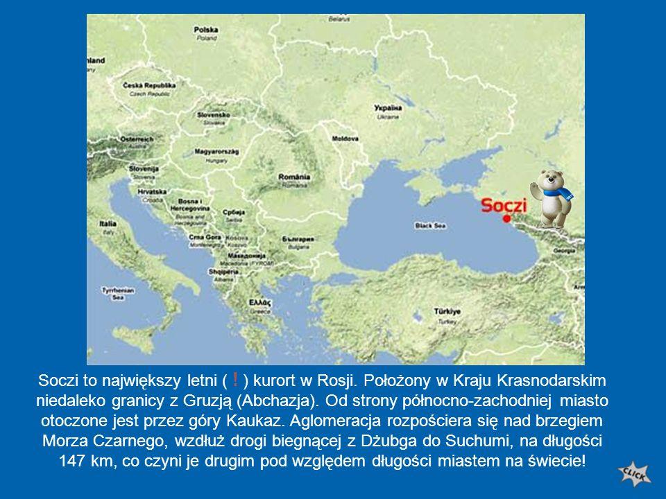 Soczi to największy letni (. ) kurort w Rosji