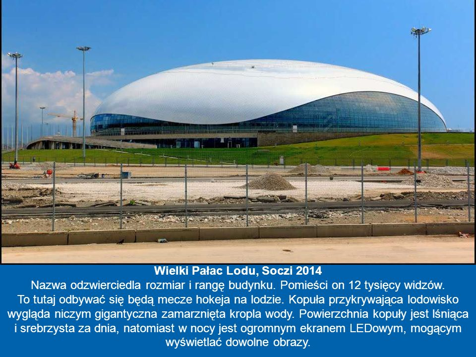 Wielki Pałac Lodu, Soczi 2014