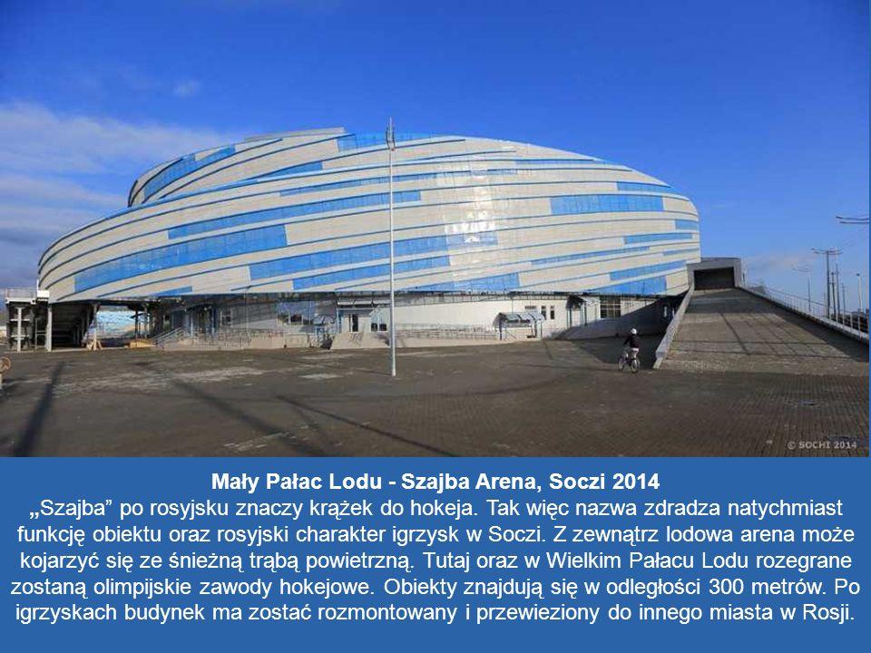 Mały Pałac Lodu - Szajba Arena, Soczi 2014