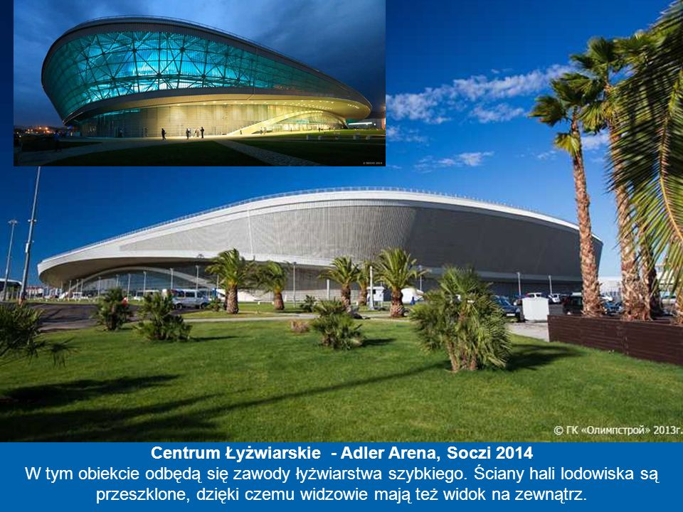 Centrum Łyżwiarskie - Adler Arena, Soczi 2014