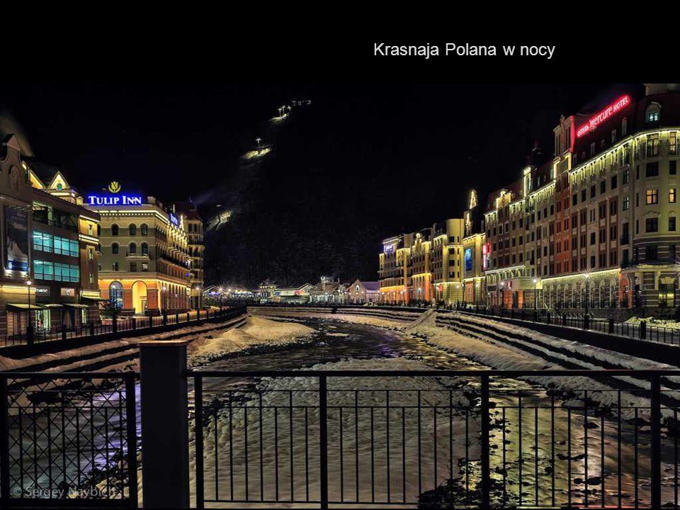 Krasnaja Polana w nocy
