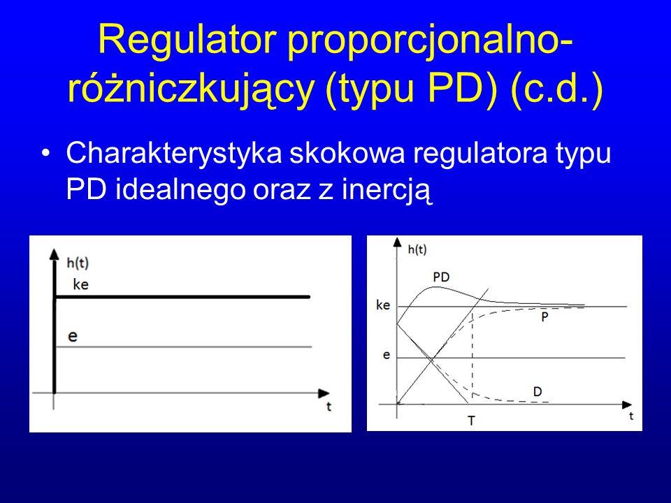 Regulator proporcjonalno-różniczkujący (typu PD) (c.d.)