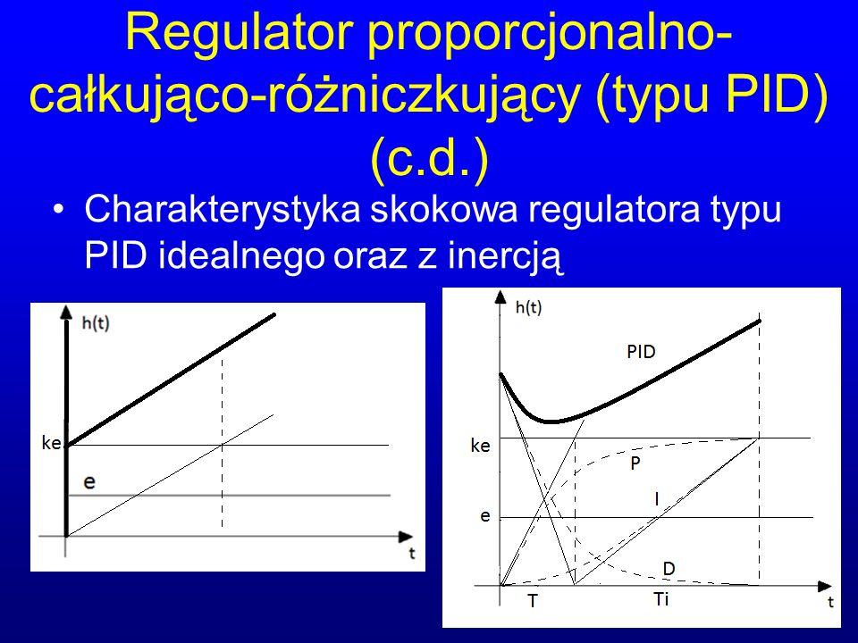 Regulator proporcjonalno-całkująco-różniczkujący (typu PID) (c.d.)
