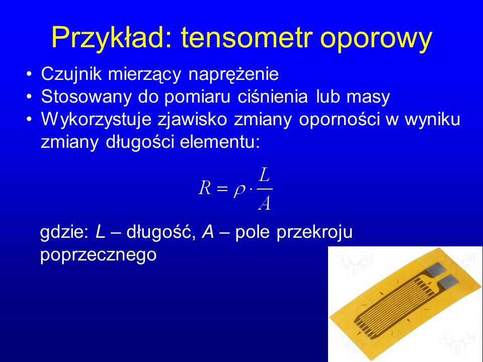Przykład: tensometr oporowy
