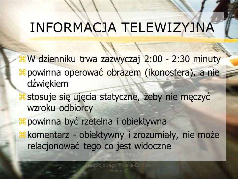 INFORMACJA TELEWIZYJNA