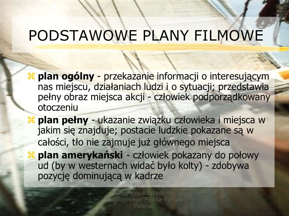 PODSTAWOWE PLANY FILMOWE