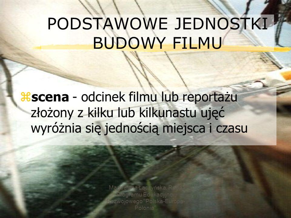 PODSTAWOWE JEDNOSTKI BUDOWY FILMU