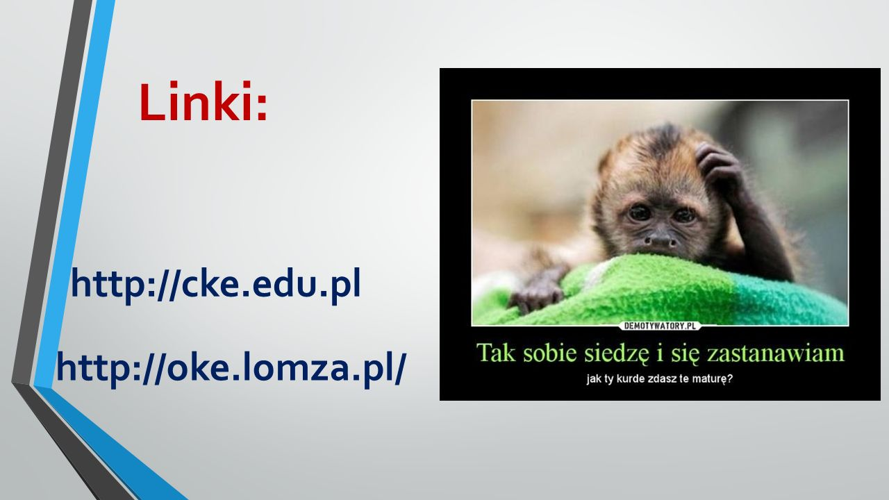 Linki: http://cke.edu.pl http://oke.lomza.pl/