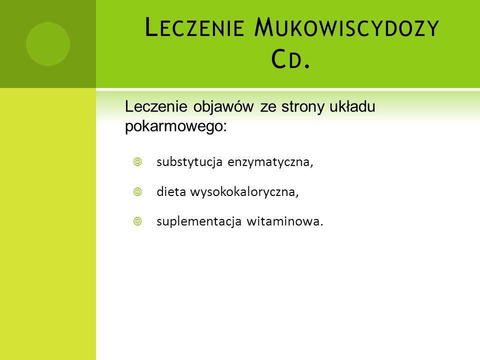 Leczenie Mukowiscydozy Cd.