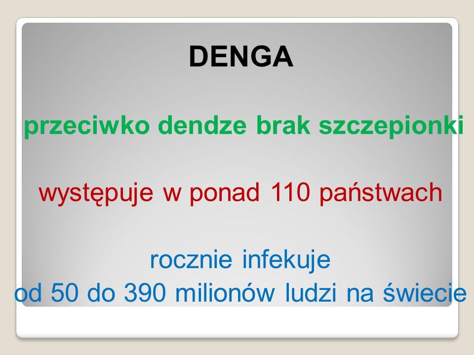 przeciwko dendze brak szczepionki
