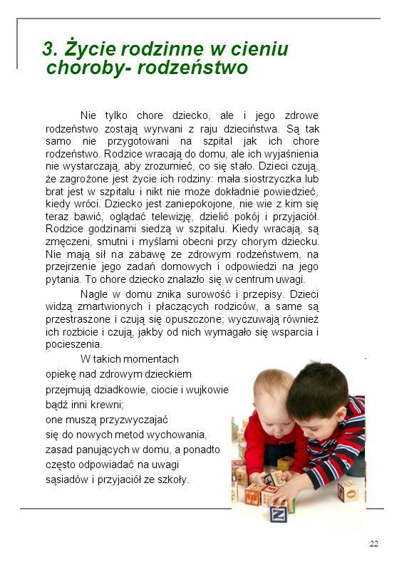 3. Życie rodzinne w cieniu choroby- rodzeństwo
