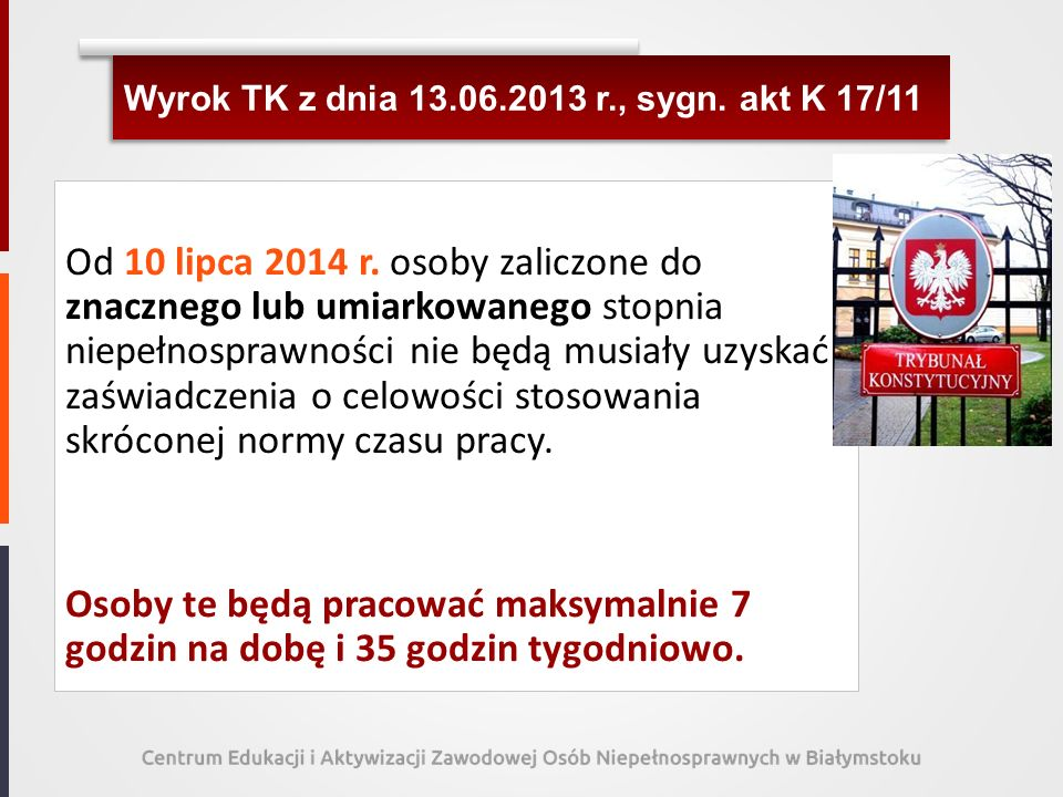 Wyrok TK z dnia 13.06.2013 r., sygn. akt K 17/11