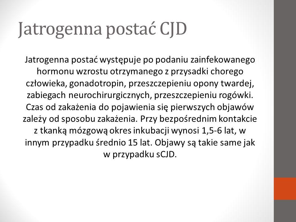 Jatrogenna postać CJD