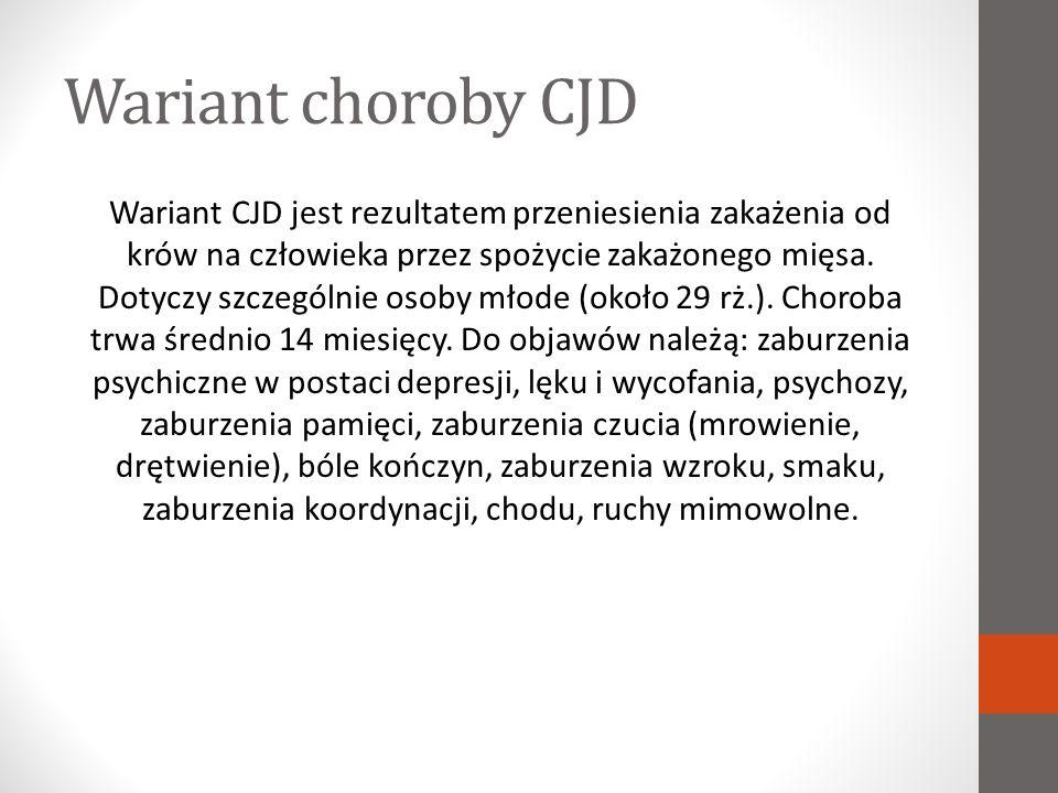 Wariant choroby CJD