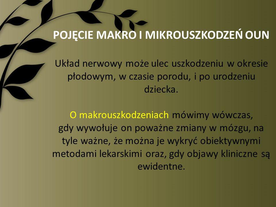 POJĘCIE MAKRO I MIKROUSZKODZEŃ OUN