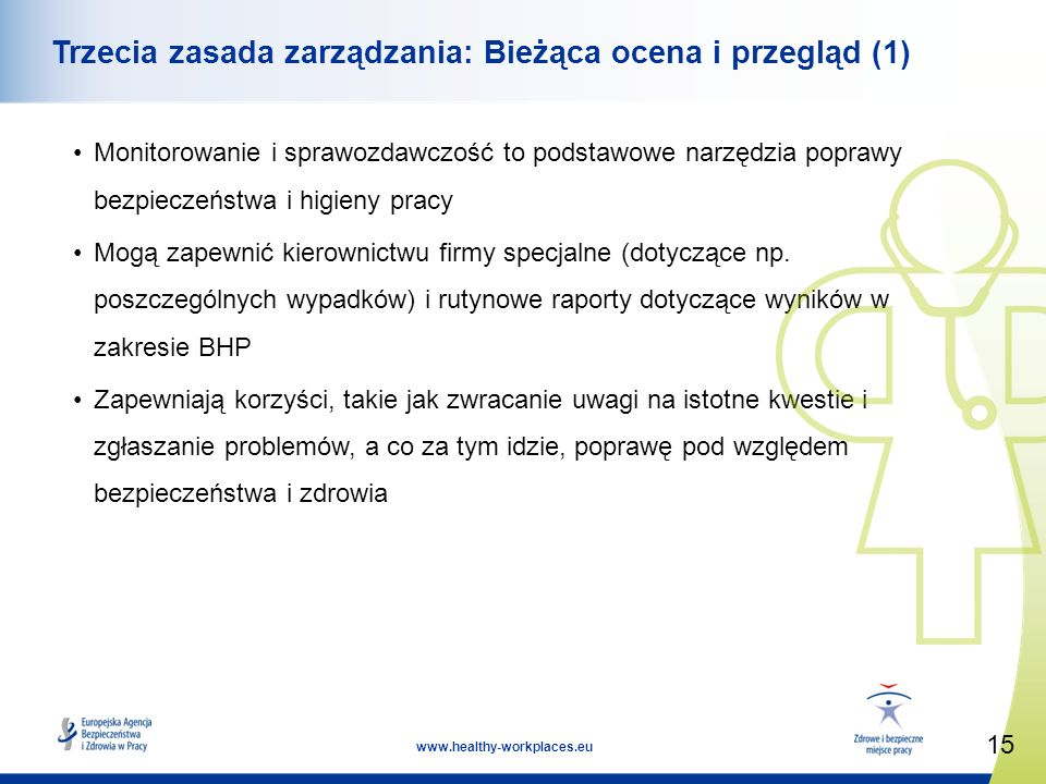 Trzecia zasada zarządzania: Bieżąca ocena i przegląd (1)