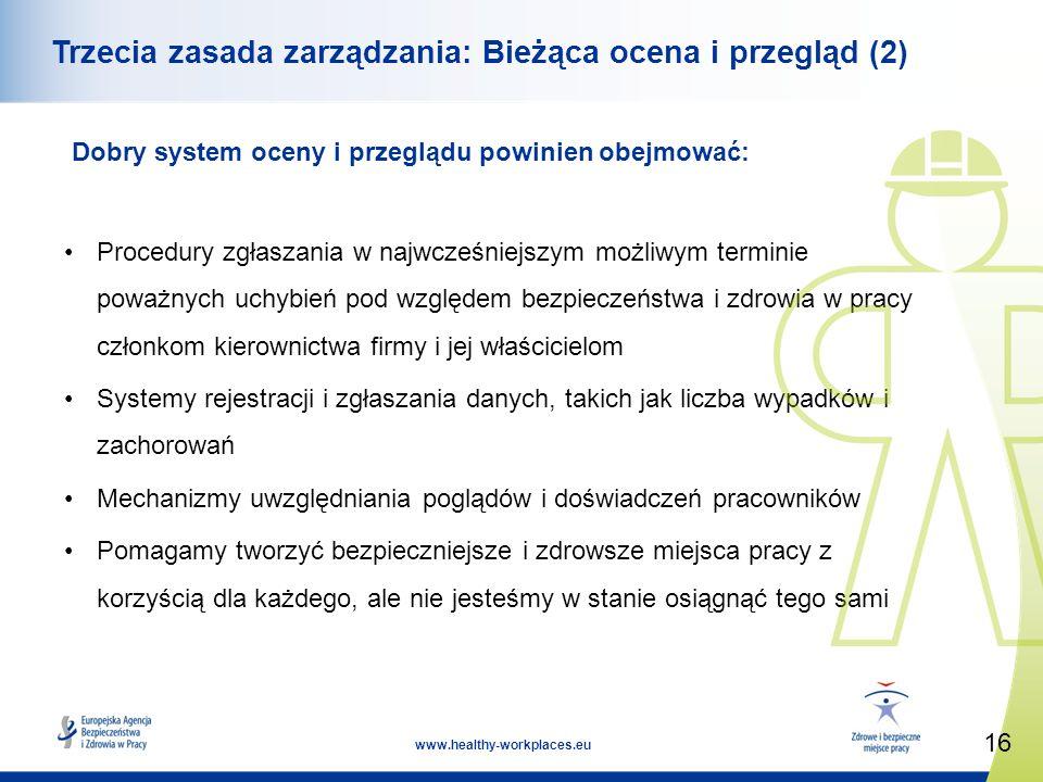 Trzecia zasada zarządzania: Bieżąca ocena i przegląd (2)