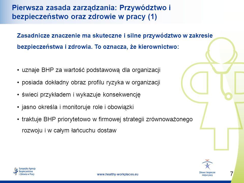 Pierwsza zasada zarządzania: Przywództwo i bezpieczeństwo oraz zdrowie w pracy (1)