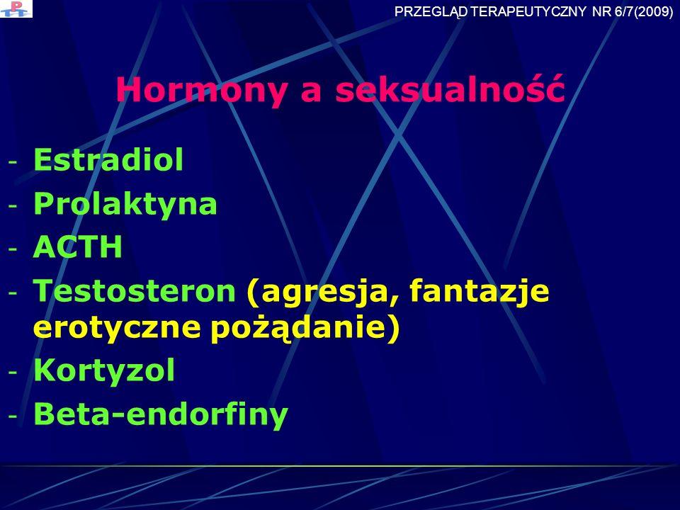Hormony a seksualność Estradiol Prolaktyna ACTH