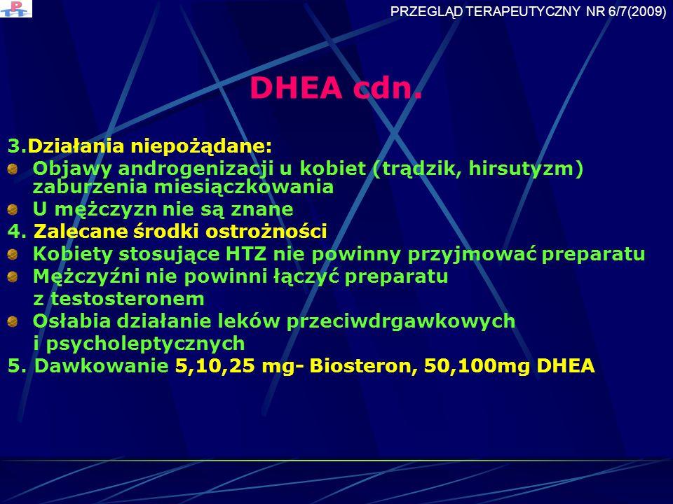 DHEA cdn. 3.Działania niepożądane: