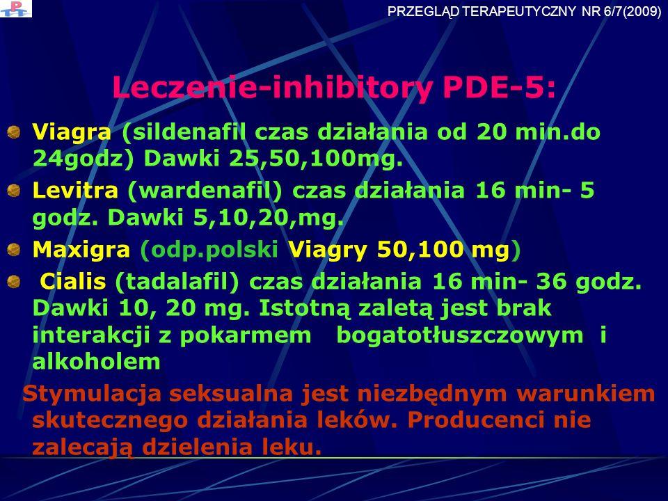 Leczenie-inhibitory PDE-5:
