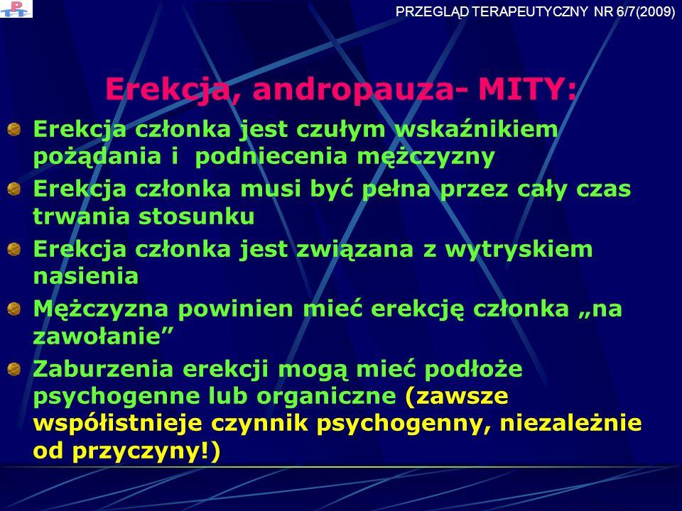 Erekcja, andropauza- MITY: