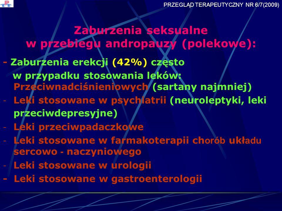 Zaburzenia seksualne w przebiegu andropauzy (polekowe):