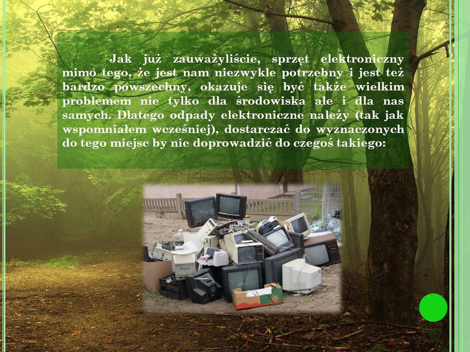 Jak już zauważyliście, sprzęt elektroniczny mimo tego, że jest nam niezwykle potrzebny i jest też bardzo powszechny, okazuje się być także wielkim problemem nie tylko dla środowiska ale i dla nas samych.