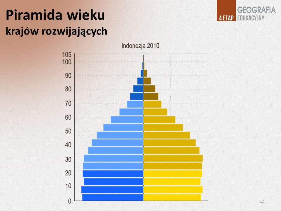 Piramida wieku krajów rozwijających