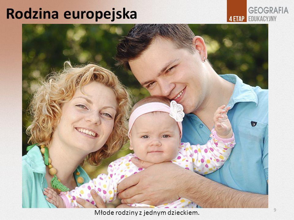 Rodzina europejska 9 Młode rodziny z jednym dzieckiem.