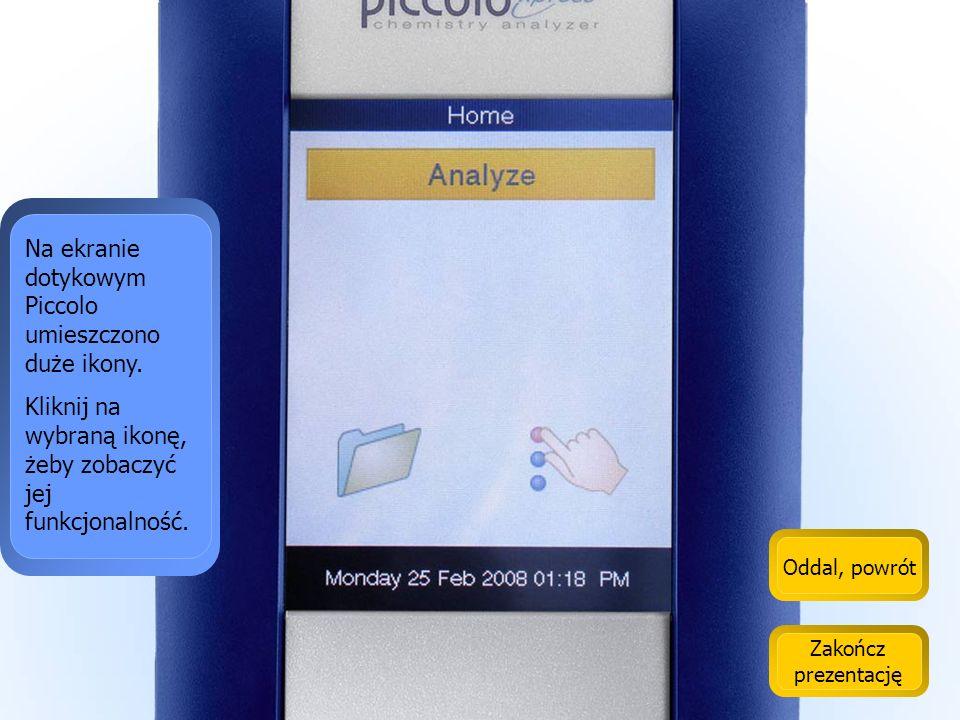 Na ekranie dotykowym Piccolo umieszczono duże ikony.