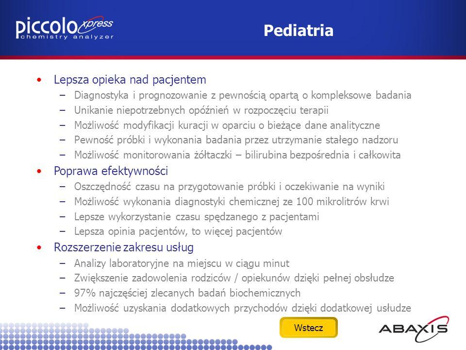 Pediatria Lepsza opieka nad pacjentem Poprawa efektywności
