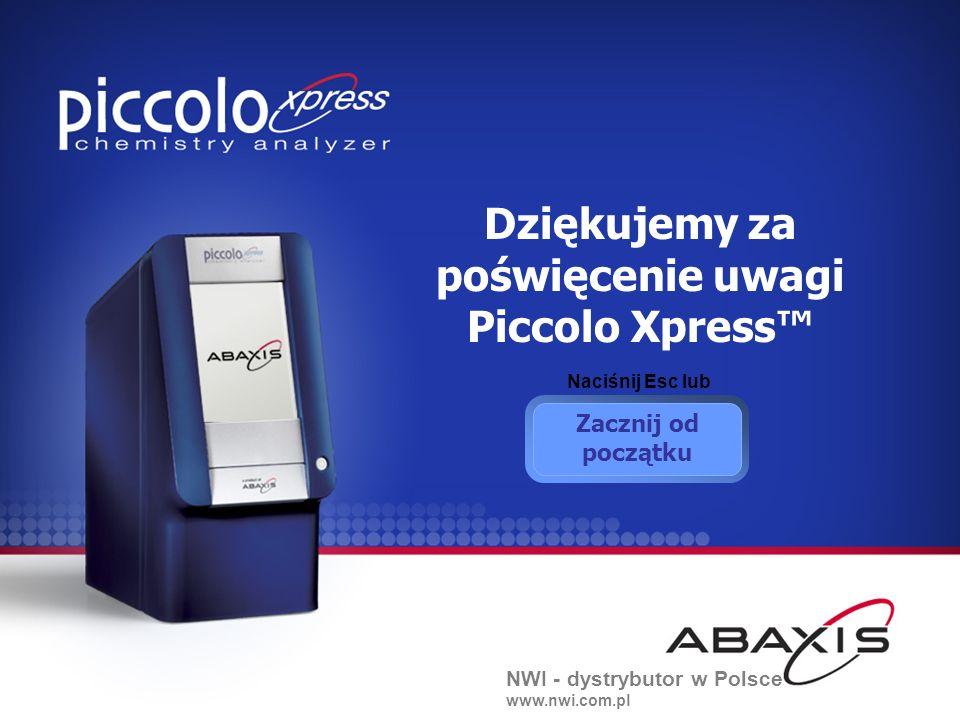 Dziękujemy za poświęcenie uwagi Piccolo Xpress™