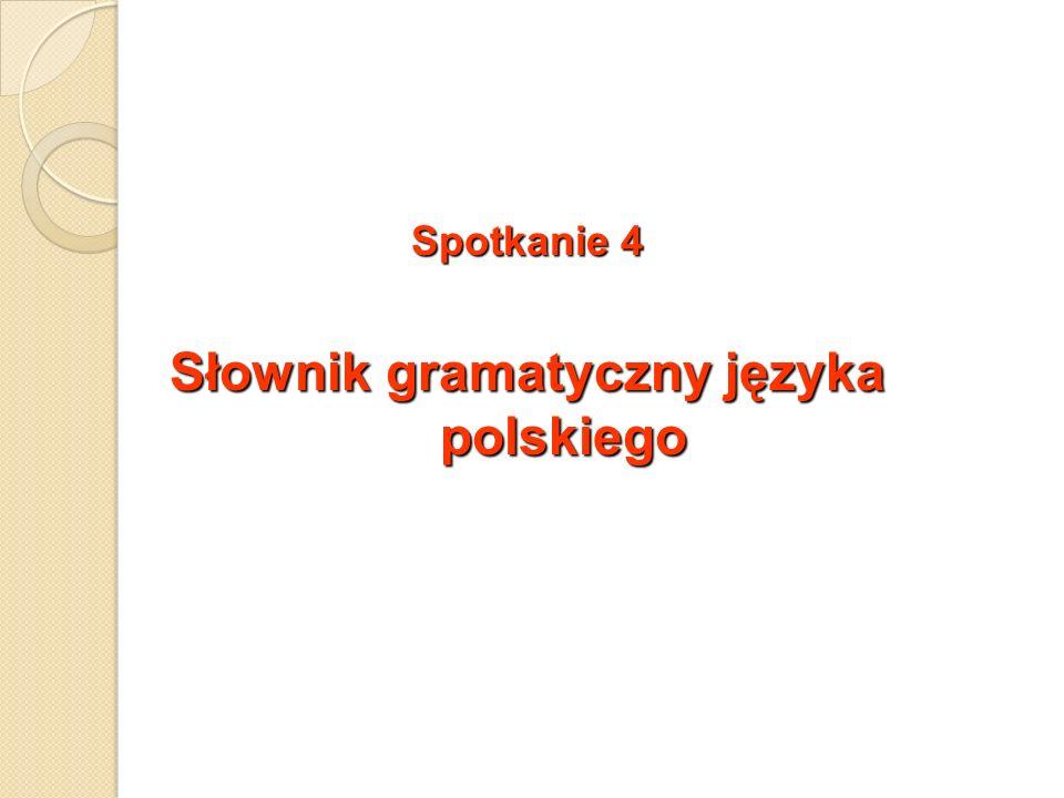Słownik gramatyczny języka polskiego