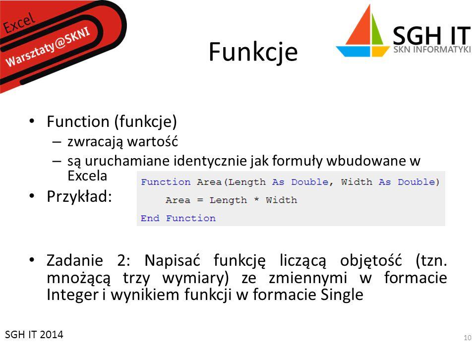 Funkcje Function (funkcje) Przykład: