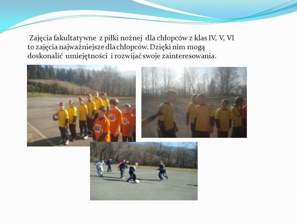 Zajęcia fakultatywne z piłki nożnej dla chłopców z klas IV, V, VI