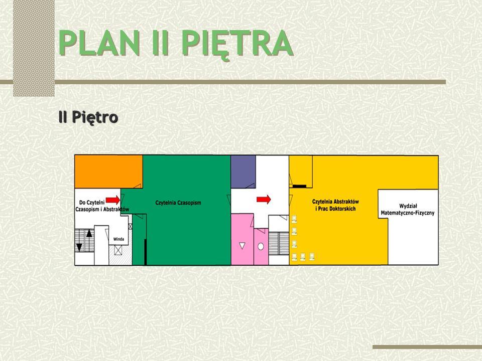 PLAN II PIĘTRA II Piętro